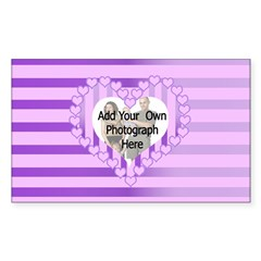 Designer personalized love heart photo frame Stick