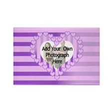 Personalized Cute pink heart photo gifts Rectangle