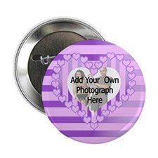 """Personalized Cute pink heart photo gifts 2.25"""" But"""