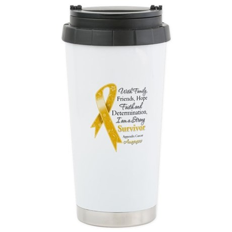 Appendix Cancer Strong Survivor Ceramic Travel Mug