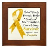 Appendix Cancer Strong Survivor Framed Tile