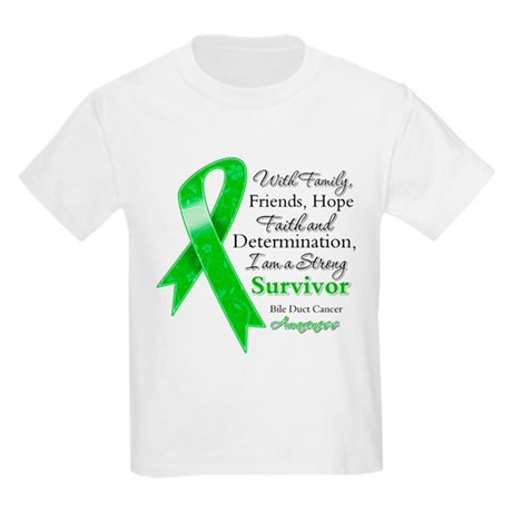Bile Duct Cancer Strong Kids Light T-Shirt