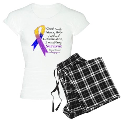 Bladder Cancer Strong Survivor Women's Light Pajam