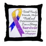 Bladder Cancer Strong Survivor Throw Pillow