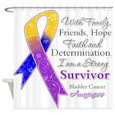 Bladder Cancer Strong Survivor Shower Curtain