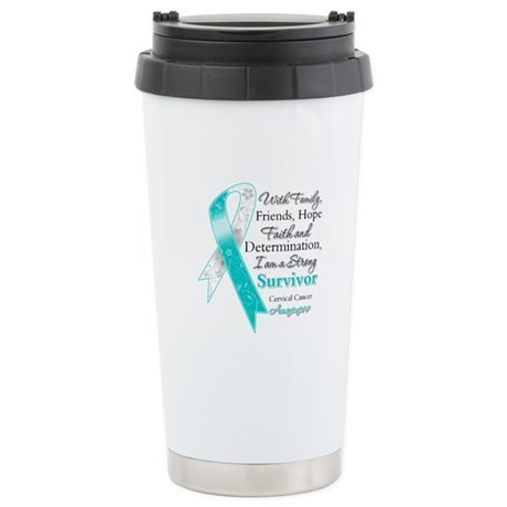 Cervical Cancer Survivor Ceramic Travel Mug