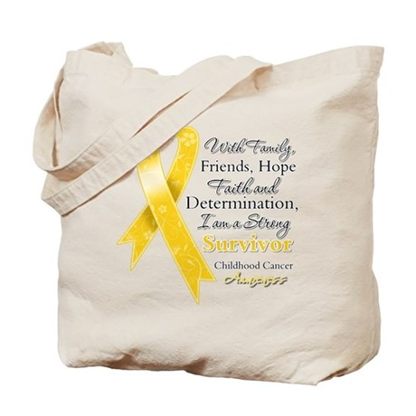 Survivor Childhood Cancer Tote Bag