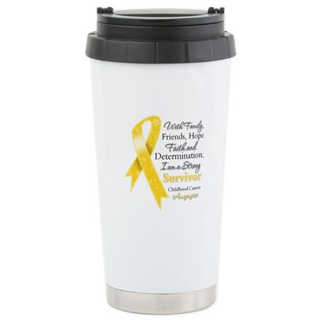 Survivor Childhood Cancer Ceramic Travel Mug