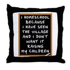 I Homeschool Too Throw Pillow
