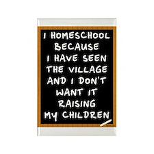 I Homeschool Too Rectangle Magnet (10 pack)