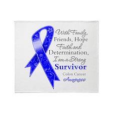 Colon Cancer Strong Survivor Throw Blanket