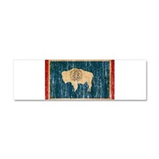 Wyoming Flag Car Magnet 10 x 3