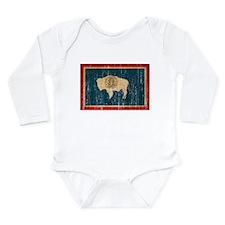 Wyoming Flag Long Sleeve Infant Bodysuit
