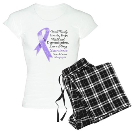 Strong Cancer Survivor Women's Light Pajamas