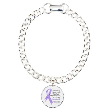 Strong Cancer Survivor Charm Bracelet, One Charm