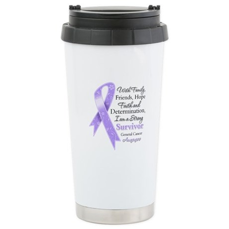 Strong Cancer Survivor Ceramic Travel Mug