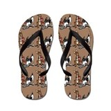 Rat Terrier Sweethearts Flip Flops