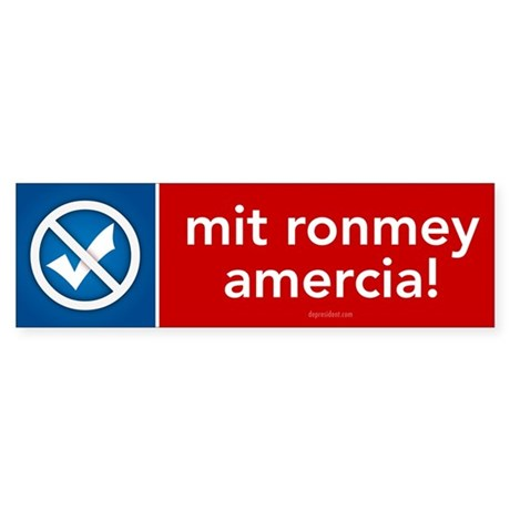 Mit Ronmey for Amercia Sticker (Bumper 10 pk)