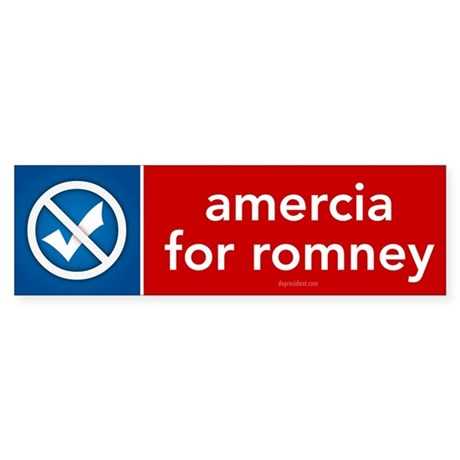 Amercia for Romney Sticker (Bumper 10 pk)