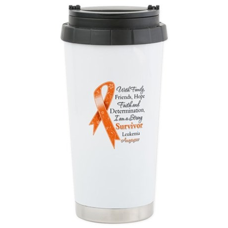 Leukemia Strong Survivor Ceramic Travel Mug