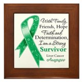 Liver Cancer Strong Survivor Framed Tile