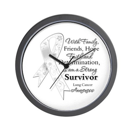 Lung Cancer Strong Survivor Wall Clock