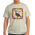 Crowned Pigeon Floral Light T-Shirt