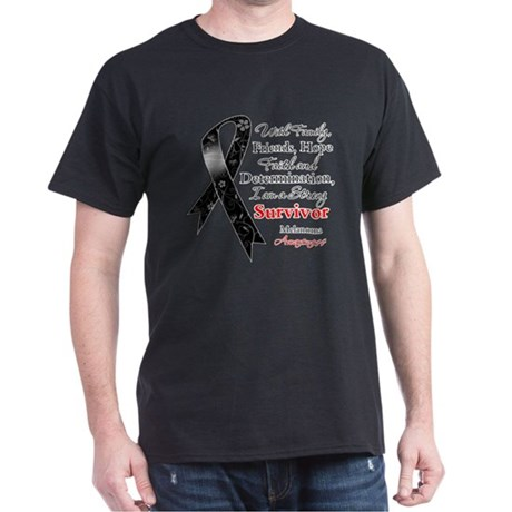 Melanoma Strong Survivor Dark T-Shirt