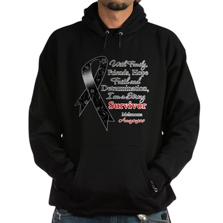 Melanoma Strong Survivor Hoodie (dark)