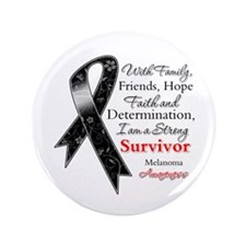 "Melanoma Strong Survivor 3.5"" Button"