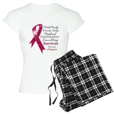 Myeloma Strong Survivor Women's Light Pajamas