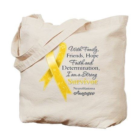 Neuroblastoma Strong Survivor Tote Bag