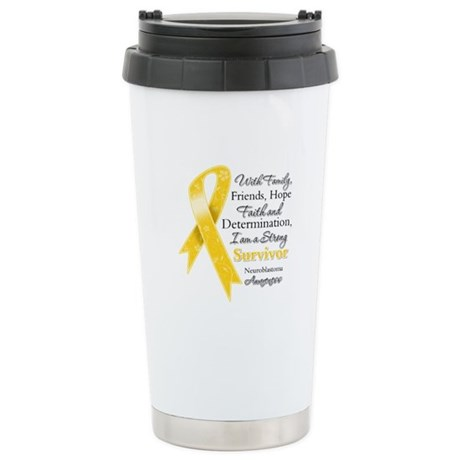 Neuroblastoma Strong Survivor Ceramic Travel Mug