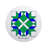 Washington Ornament (Round)