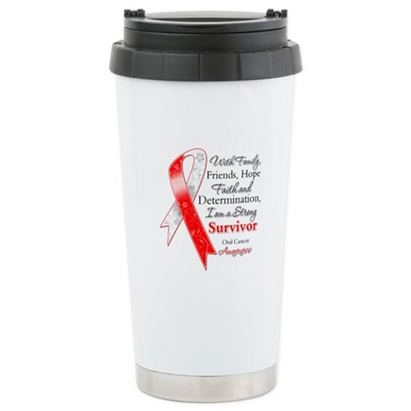 Oral Cancer Strong Survivor Ceramic Travel Mug