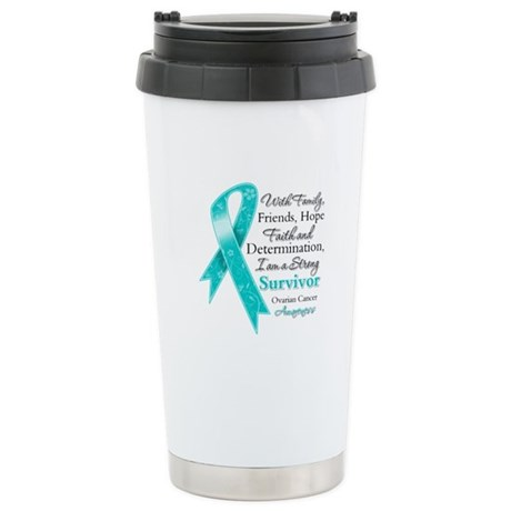 Ovarian Cancer Strong Survivor Ceramic Travel Mug