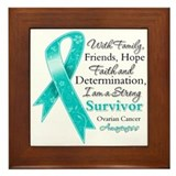Ovarian Cancer Strong Survivor Framed Tile