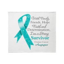 Ovarian Cancer Strong Survivor Throw Blanket