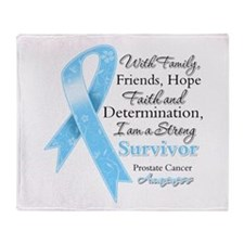 Strong Prostate Cancer Throw Blanket