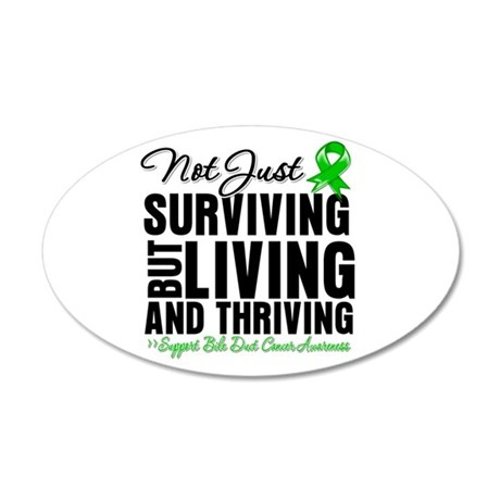 Thriving Bile Duct Cancer 35x21 Oval Wall Decal