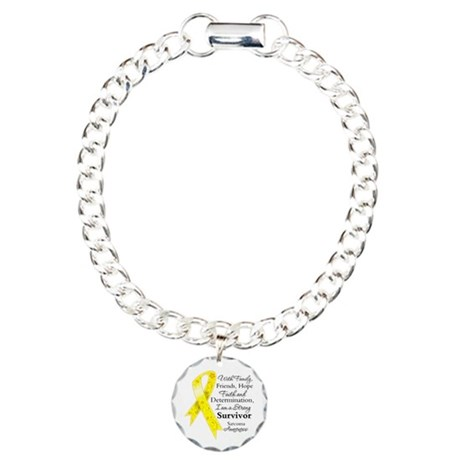 Sarcoma Strong Survivor Charm Bracelet, One Charm