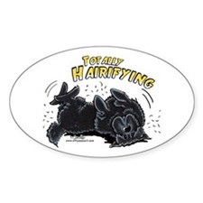 Black Newfie Totally Hairifying Decal
