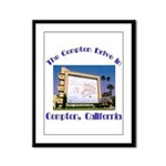 Compton Drive-In Framed Panel Print