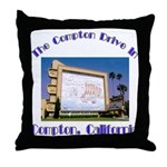 Compton Drive-In Throw Pillow