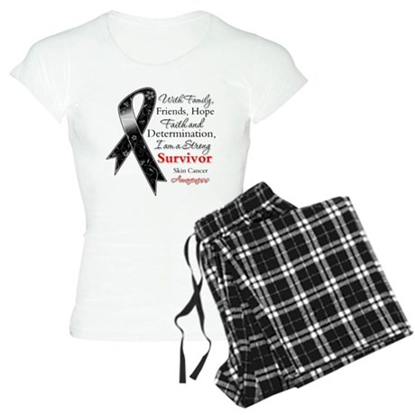 Skin Cancer Strong Survivor Women's Light Pajamas
