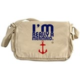 I'm Really a Mermaid Messenger Bag