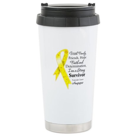 Testicular Cancer Survivor Ceramic Travel Mug
