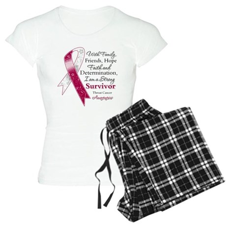 Throat Cancer Strong Survivor Women's Light Pajama