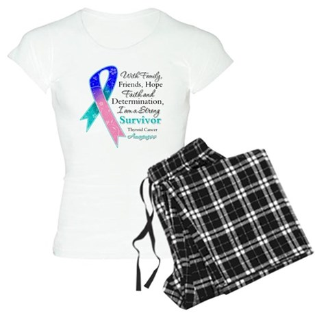Thyroid Cancer Strong Survivor Women's Light Pajam