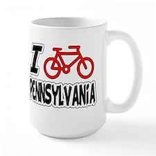 I Love Cycling Pennsylvania Mug